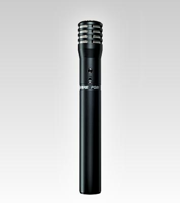 Cardioid for instrument Shure PG81-XLR