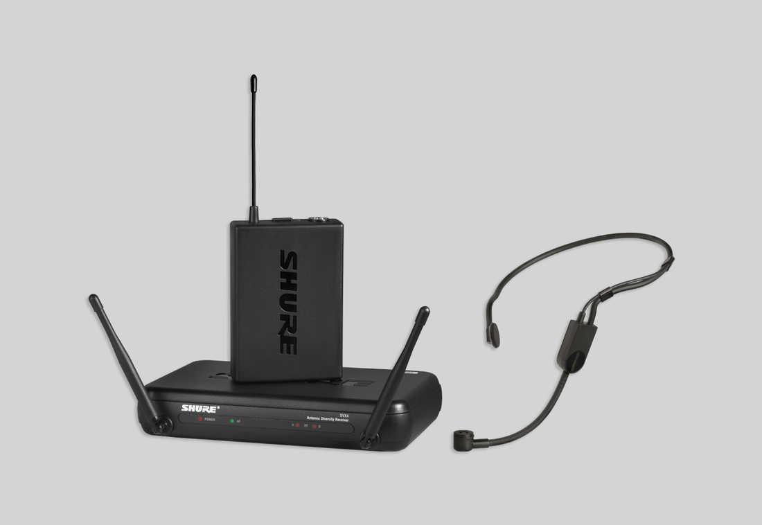 Bộ thu và phát kèm micro không dây cài đầu Shure SVX14/PGA31